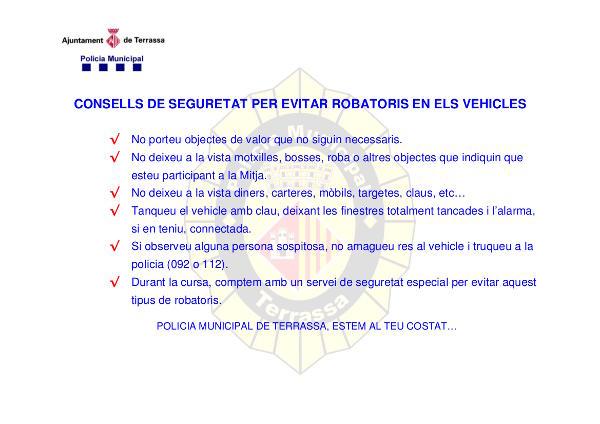 Consells de seguretat per evitar robatoris en els vehicles